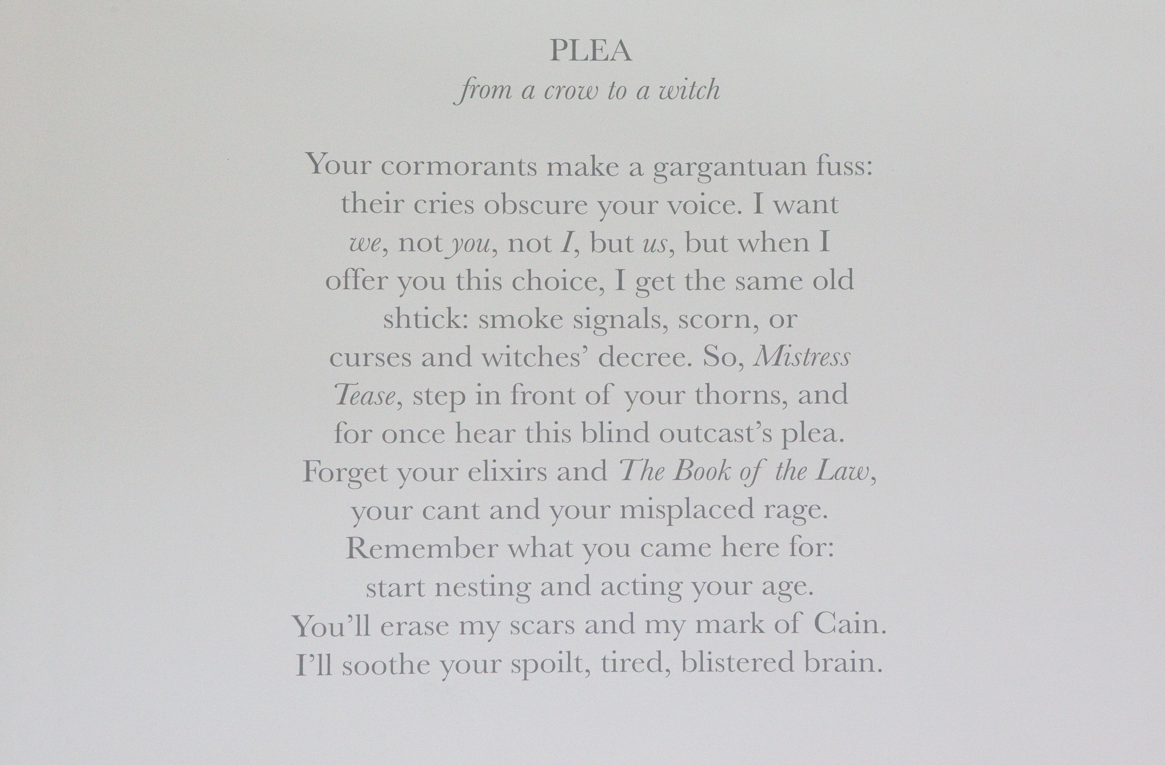 2 Poem from Plea